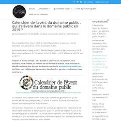 Calendrier de l'avent du domaine public : qui s'élèvera dans le domaine public en 2019