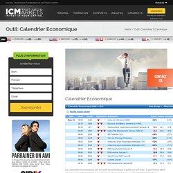 ICMarkets – Outil: Calendrier Economique