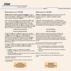 CESAR - Calendrier Electronique des Spectacles sous l'Ancien Régime