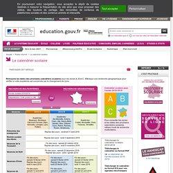 Le calendrier scolaire - Ministère de l'éducation nationale
