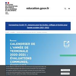 Calendrier de l'année de terminale 2020-2021 : évaluations communes, épreuves finales, procédure Parcoursup