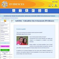 Calendrier des événements d'Evidences