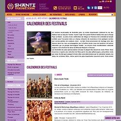CALENDRIER DES FÊTES ET FESTIVALS EN INDE avec shantitravel