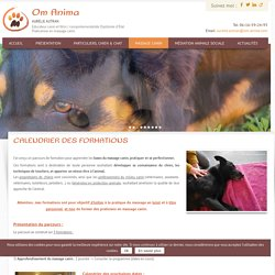 Calendrier des formations – Om Anima