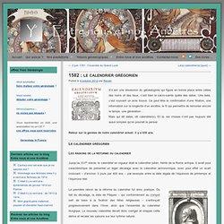 1582 : adoption du calendrier grégorien