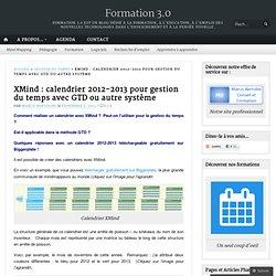 XMind : calendrier 2012-2013 pour gestion du temps avec GTD ou autre système