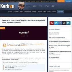 Gérer son calendrier (Google) directement depuis la barre de notif d'Ubuntu