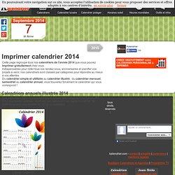 Imprimer calendrier 2014 gratuitement
