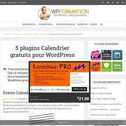 5 plugins Calendrier Gratuits pour WordPress - Affichez vos évènements