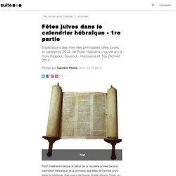 Fêtes juives dans le calendrier hébraïque - 1re partie