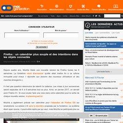 Firefox: un calendrier plus souple et des intentions dans les objets connectés