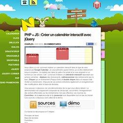 PHP + JS : Créer un calendrier interactif avec jQuery