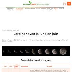 Calendrier lunaire 2016 pour jardiner avec la lune