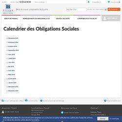Calendrier des Obligations Sociales - Editions Tissot -p-