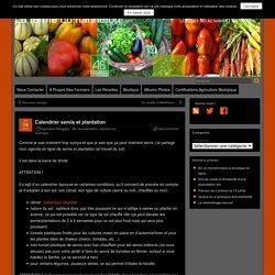 Calendrier semis et plantation – La ferme du hanneton