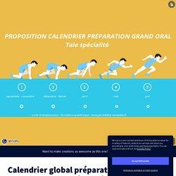 Calendrier global préparation Grand Oral Tale spécialité by lucia.jakubik on Genially
