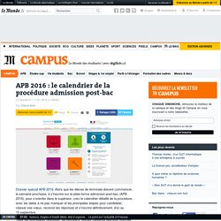 APB : le calendrier de la procédure admission post-bac
