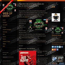 Calendrier des prochaines sorties de jeux & événements mai 2015