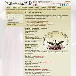 Opéra Venise la Fenice spectacle calendrier représentations e