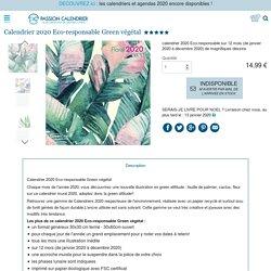 Calendrier 2020 Eco-responsable Green végétal
