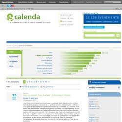 Le calendrier des lettres et sciences humaines et sociales