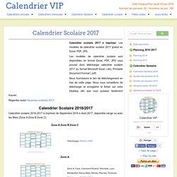 Calendrier Scolaire 2017 à imprimer gratuit en PDF et Excel
