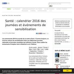 Santé: calendrier 2014 des journées et événements de sensibilisation