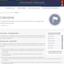 Calendrier Régionales 2015