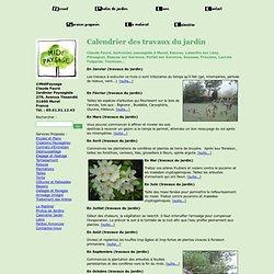 Calendrier annuel des travaux du jardin - ©Midi-Paysage Paysagiste à Muret