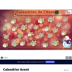 Calendrier Avent by vanessadeglaire on Genially