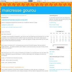 calendrier de l'avent des cinq sens version 2011 - maicresse gourou