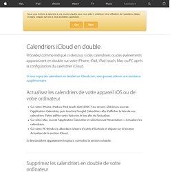 Calendriers iCloud en double