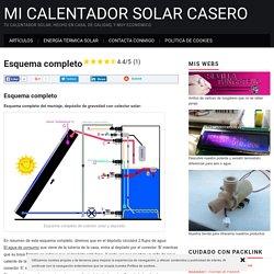 Esquema completo - Mi calentador solar de fabricación casera