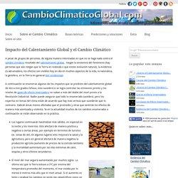 Impacto del Calentamiento Global y el Cambio Climático - Cambio Climático Global