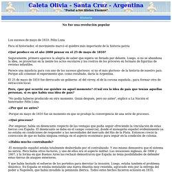 Caleta Olivia, Los sucesos de Mayo de 1810.