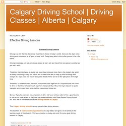 Calgary: Effective Driving Lessons