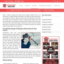 Calgary Garage Door Repair & Installation
