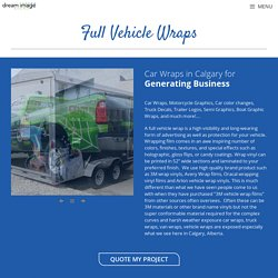 Vehicle Wraps - Dream Image Signs