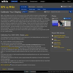 Calibrate Your Display - XPS 15 Wiki