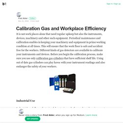 Calibration Gas and Workplace Efficiency