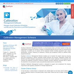 Calibration Management and Tracking Software Systems