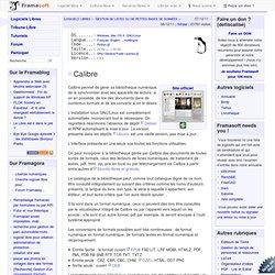 Calibre - Gestion de listes ou de petites bases de données