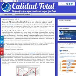 Calidad Total: Reporte A3: comunicación efectiva en tan solo una hoja de papel