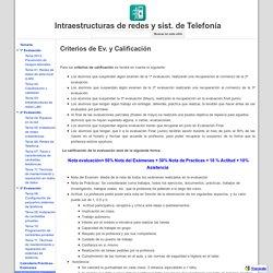 Criterios de Ev. y Calificación - Intraestructuras de redes y sist. de Telefonía