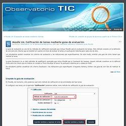 Moodle UA: Calificación de tareas mediante guías de evaluación