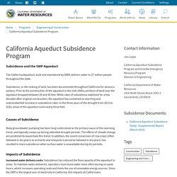 Aqueduct Subsidence Program
