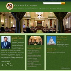 Welcome to the California State Assembly | Assembly Internet