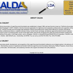 California Association of Legal Document Assistants - About CALDA / History of CALDA