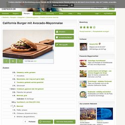 California Burger mit Avocado-Mayonnaise