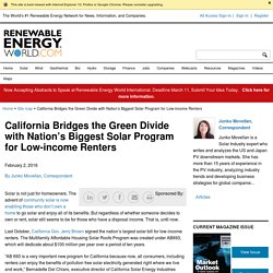 California Bridges the Green Divide with Nation's Biggest Solar Program for Low-income Renters - Renewable Energy World
